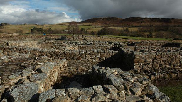 Archäologen entdecken im Norden Englands, nahe der Grenze zu Schottland, mens...
