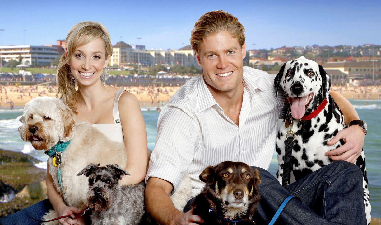 Dr. Lisa Chimes (l.) behandelt zusammen mit Tierarzt Dr. Chris Brown (r.) nicht nur Katzen und Hunde - zu den Patienten zählen exotische Papageien,... - Bildquelle: Network Ten, Australia