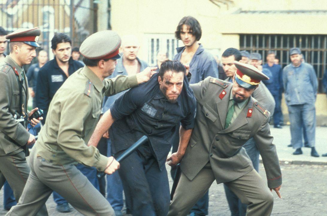Schon bald muss Kyle (Jean-Claude Van Damme, M.) erkennen, dass er in der Hölle gelandet ist ... - Bildquelle: NU IMAGE