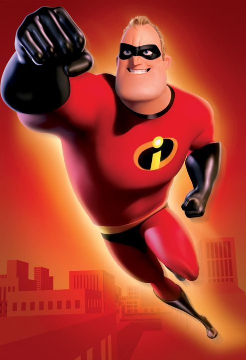 Der ehemalige Superheld Mr. Incredible lässt seine Kräfte wieder aufleben und sagt seinem Gegner Buddy Pine, der sich ab sofort Syndrome nennt, de... - Bildquelle: Disney/Pixar. All rights reserved