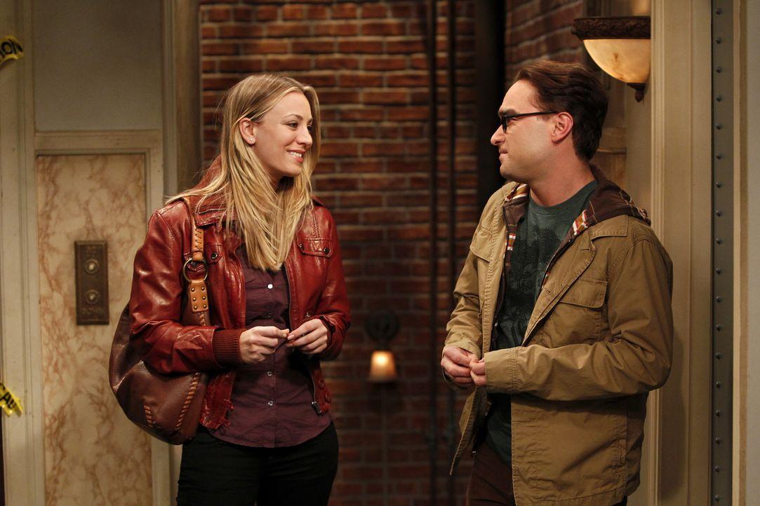 Wollen es noch einmal miteinander versuchen - doch wird es klappen? Leonard (Johnny Galecki, r.) und Penny (Kaley Cuoco, l.) ... - Bildquelle: Warner Bros. Television