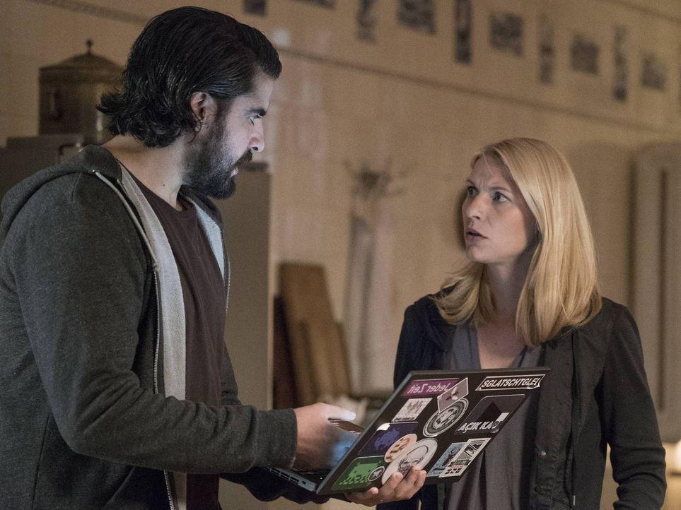 Numan (Atheer Adel, l.) steht Carrie (Claire Danes, r.) zur Seite, während Quinn eine neue Idee hat, wie er dem internationalen Terrorismus einen em... - Bildquelle: 2015 Showtime Networks, Inc., a CBS Company. All rights reserved.