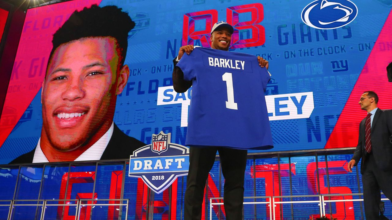 1. Saquon Barkley (New York Giants) - Bildquelle: 2018 imago