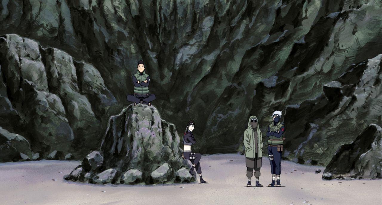 Es stellt sich schnell heraus, dass die Angreifer gefährliche Himmel-Shinobi sind. Nun liegt es an Naruto und seinen Freunden (Foto), die Bedrohung... - Bildquelle: 2002 MASASHI KISHIMOTO /2007 Shippuden   NMP 2008