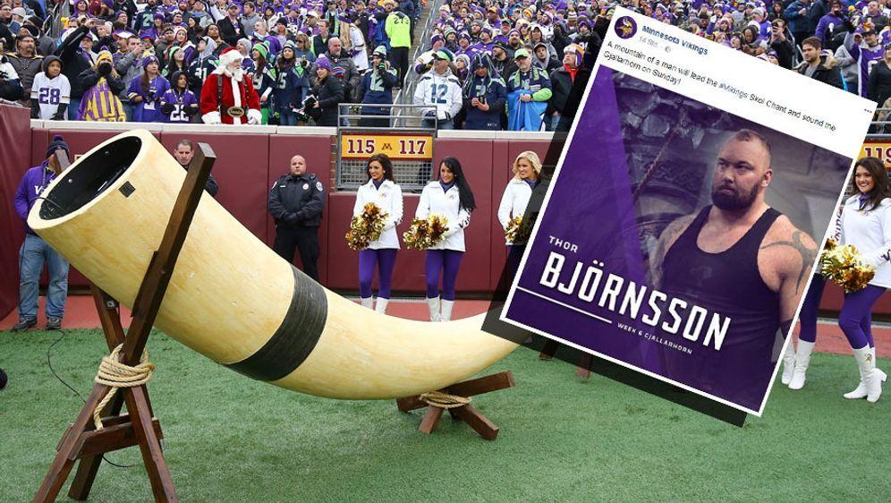 Vor jedem Heimspiel wird bei den Vikings das Gjallarhorn geblasen. - Bildquelle: Getty Images/ran.de