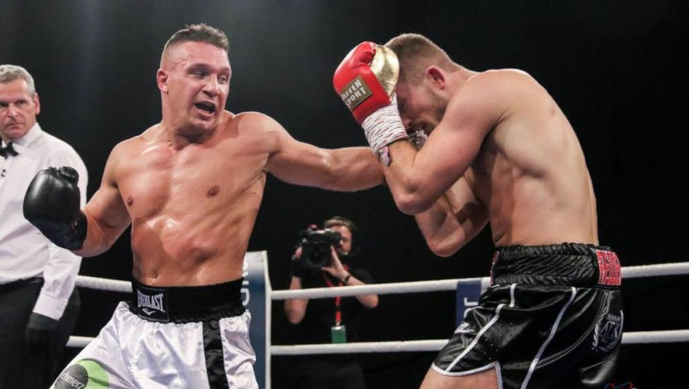 "Nick Hannig: ""The Champ is back home"". - Bildquelle: Klaus Frevert / Boxwelt.com"