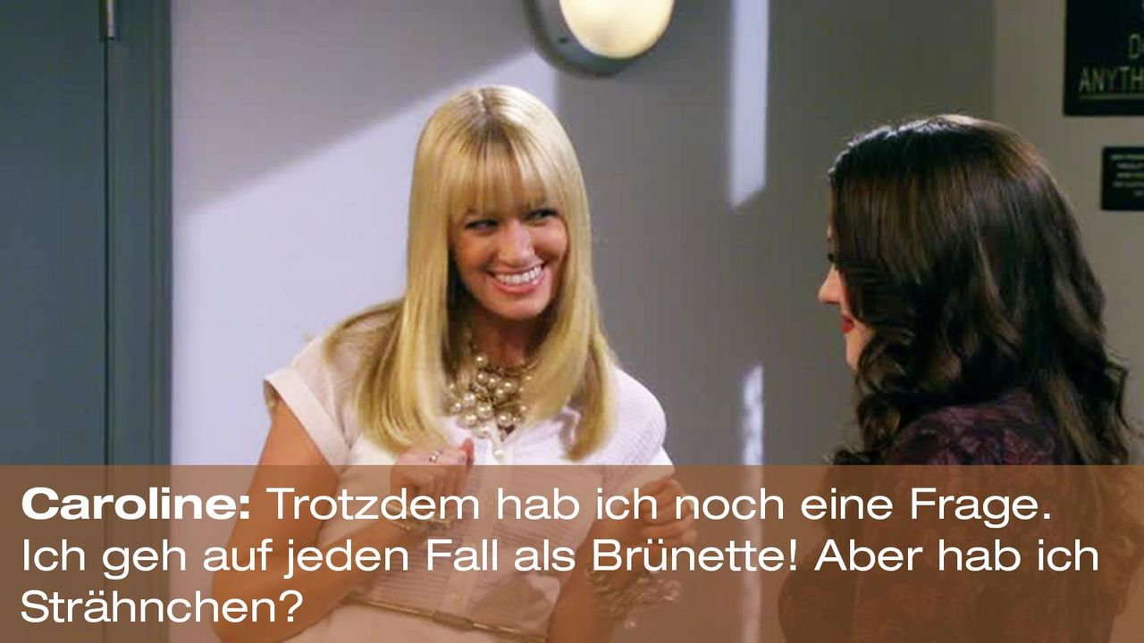 2-broke-girls-zitat-staffel2-episode2-kostbarer-pokal-caroline-straehnchen-warnerpng 1600 x 900 - Bildquelle: Warner Brothers Entertainment Inc.