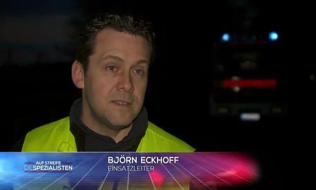 Einsatzleiter Björn Eckhoff