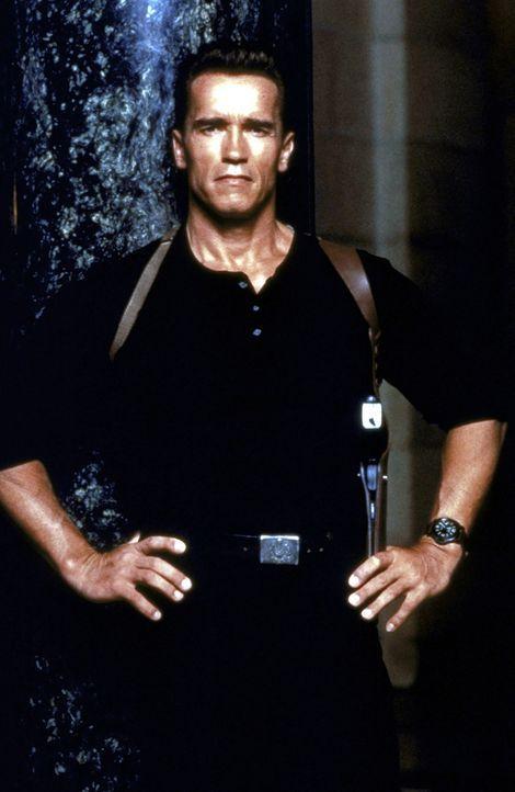 Federal Marshal John Kruger (Arnold Schwarzenegger) muss aussagewilligen Verbrecher im Zeugenschutzprogramm des FBI eine neue Identität verpassen. K... - Bildquelle: Warner Brothers International Television Distribution Inc.