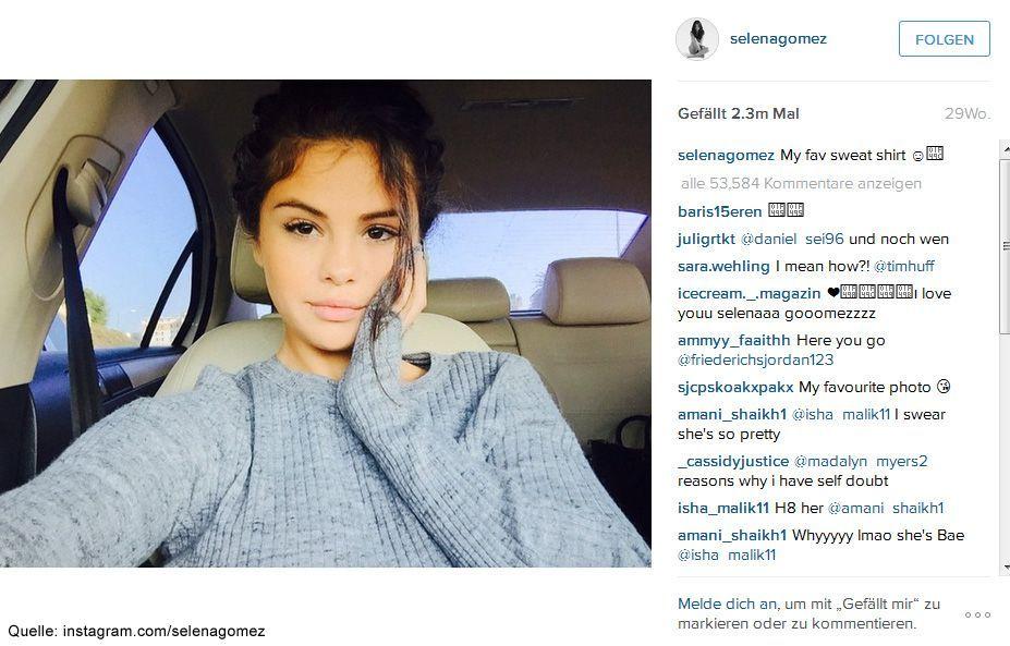 Beliebteste-Instagram-Bilder-2015-Selena-Gomez - Bildquelle: instagram.com/selenagomez