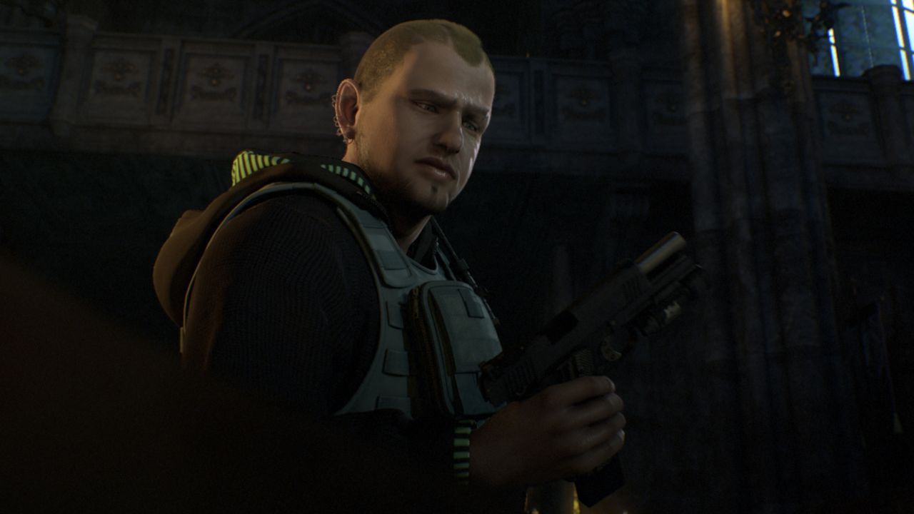 J.D. (Bild) und seine Mitkämpfer wollen die Regierung Ostslawiens stürzen. Als Leon herausfindet, dass die Rebellen bioorganische Waffen, sogenannte... - Bildquelle: 2012 Capcom Co., Ltd. and Resident Evil CG2 Film Partners. All Rights Reserved.
