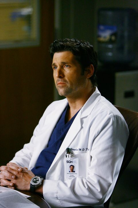 Glaubt, Izzie retten zu können: Derek (Patrick Dempsey) ... - Bildquelle: Touchstone Television