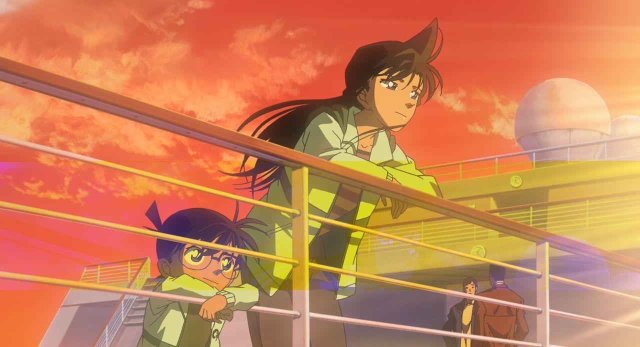 Sonoko lädt Ran (r.), Conan (l.) und seine Freunde zur Jungfernfahrt eines neuen Luxusliners ein. Doch schon bald treibt ein Mörder auf dem Schiff s... - Bildquelle: 2005 GOSHO AOYAMA / SHOGAKUKAN-YTV-NTV-ShoPro-TOHO-TMS All Rights Reserved