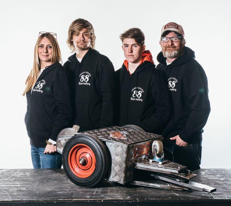 Die Mitglieder des Teams Crazy Coupe 88 haben bei der Konstruktion ihres Roboters Blut und Wasser geschwitzt. Wird sich das am Ende in der Kampfaren... - Bildquelle: Andrew Rae