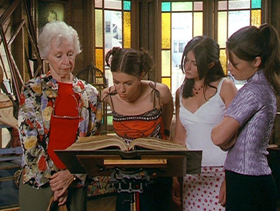 (v.l.n.r.) Tante Gail (Anne Haney) hat sich das Vertrauen der drei Halliwell-Schwestern Phoebe (Alyssa Milano), Prue (Shannen Doherty) und Piper (Ho... - Bildquelle: Paramount Pictures