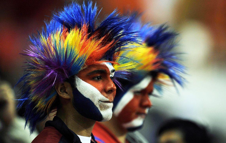 Hairstyling á la costa-ricanischer Fußballfans - Bildquelle: AFP