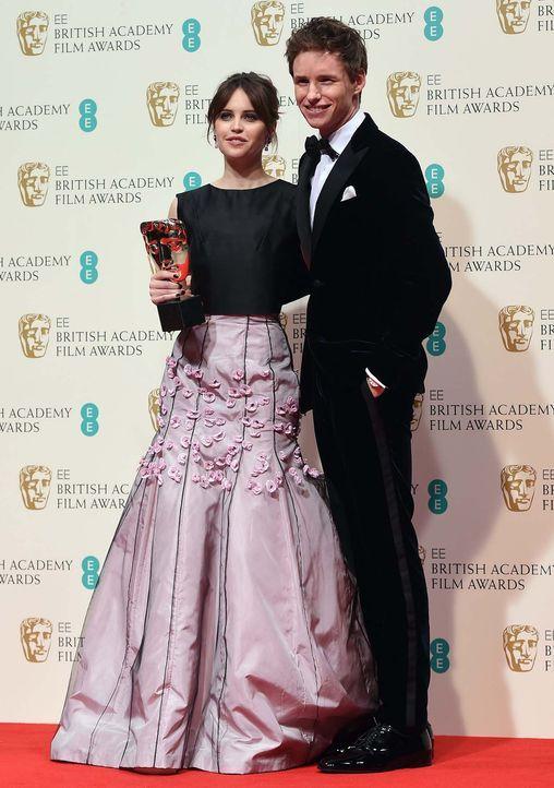 BAFTA-Felicity-Jones-Eddie-Redmayne-15-02-08-dpa - Bildquelle: dpa