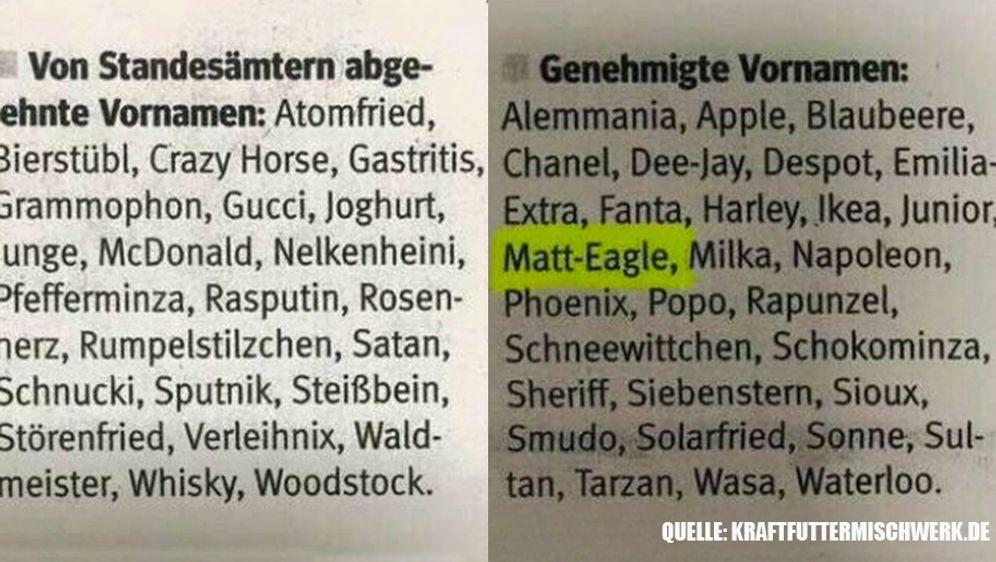 Lustige Vornamen – erlaubt oder nicht? - Bildquelle: Kraftfuttermischwerk.de