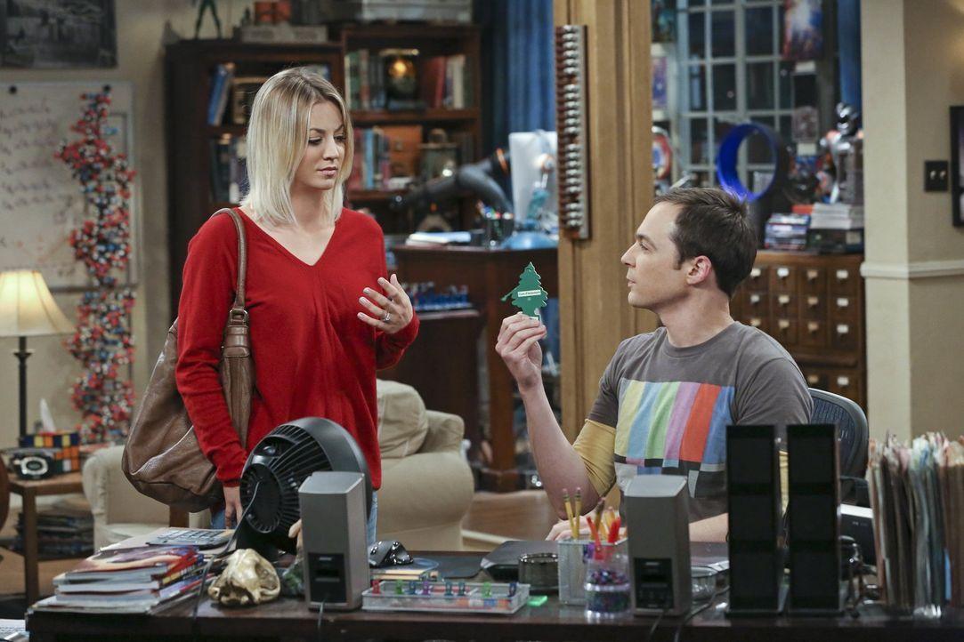 Damit Sheldon (Jim Parsons, r.) mal echte Natur erleben kann, machen Penny (Kaley Cuoco, l.), Leonard und Amy mit ihm einen Ausflug in eine Waldhütt... - Bildquelle: 2016 Warner Brothers