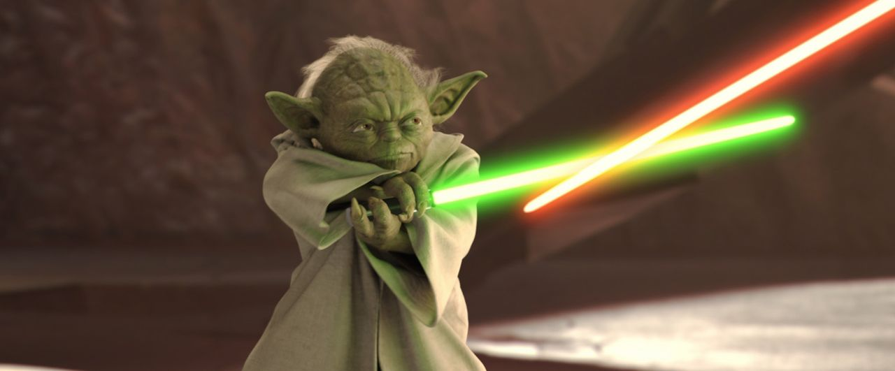 """Begonnen der Klonkrieg hat"": der weise Jedi Yoda ... - Bildquelle: Lucasfilm Ltd. & TM. All Rights Reserved."