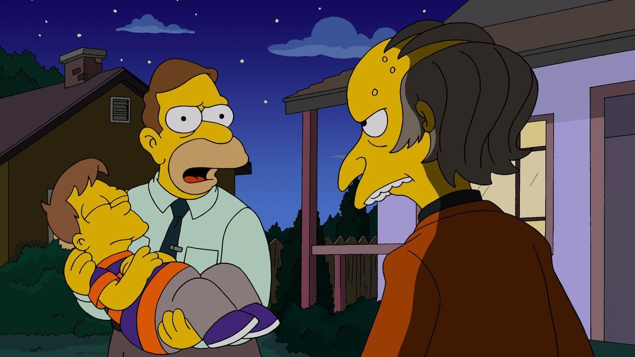 Rückblick in Homers Kindheit: Homer (l.), Grampa (M.) und Mr. Burns (r.) ... - Bildquelle: und TM Twentieth Century Fox Film Corporation - Alle Rechte vorbehalten