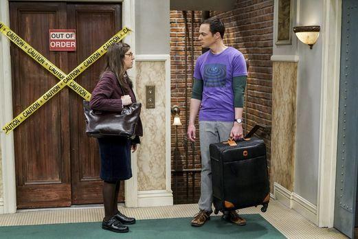 The Big Bang Theory - Für Amy (Mayim Bialik, l.) besteht die Möglichkeit, ein...