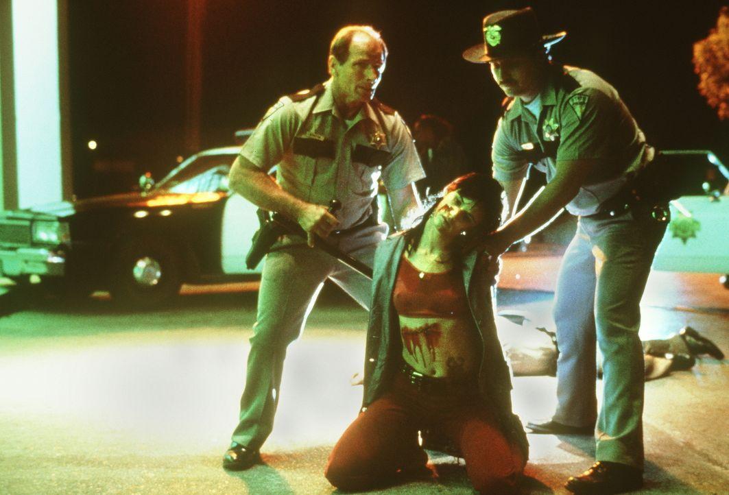 Kann sich Mallory (Juliette Lewis, M.) aus der Hand der Polizisten befreien? - Bildquelle: Warner Bros.