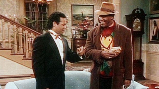 Elvin (Geoffrey Owens, l.) und Cliff (Bill Cosby, r.) sind beide überzeugt, d...