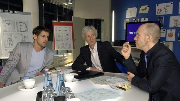 Robert (Mathieu Carrière, M.) und Jonas (Roy Peter Link, l.) sind überrascht,...