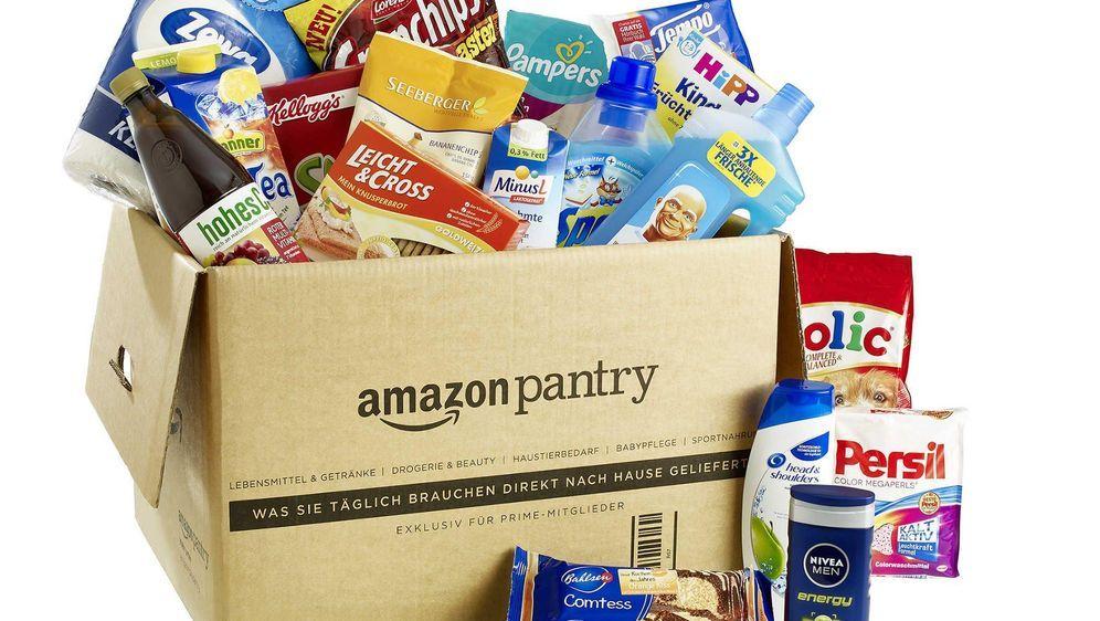 Lebensmittel Aus Dem Online Shop Bei Lieferung Zu Hause Sein