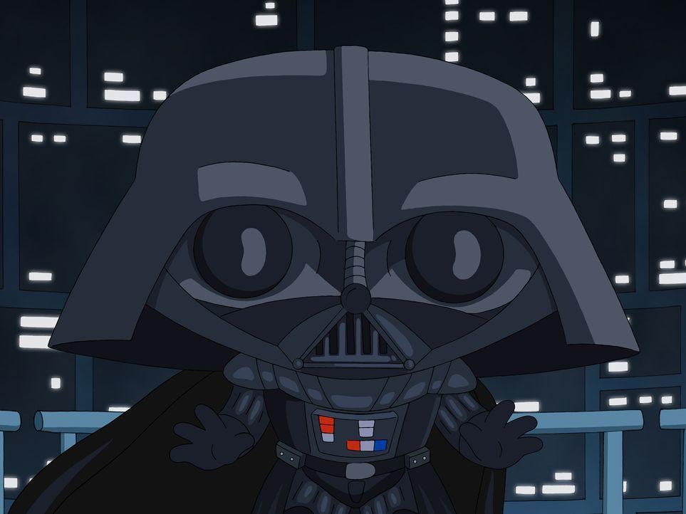 """Peter erzählt die Star Wars Saga """"Das Imperium schlägt zurück"""" à la Family Guy: Stewie übernimmt die Rolle von Darth Vader - Bildquelle: 2007-2008 Twentieth Century Fox Film Corporation. All rights reserved."""