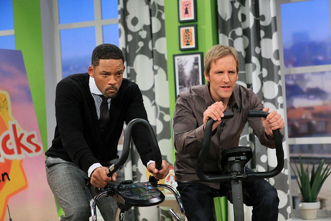 Hollywood-Star Will Smith und Jan Hahn - Bildquelle: Ingo Gauss