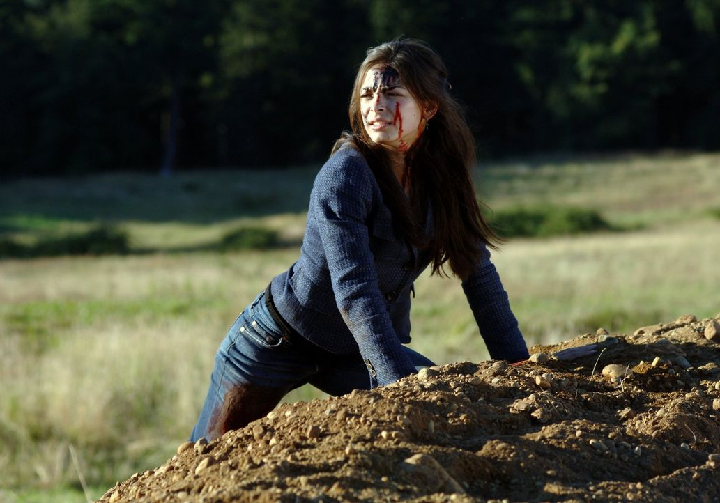 Lana (Kristin Kreuk) beobachtet, wie zwei Kryponianer auf die Erde kommen und ist froh, dass sie die Landung überlebt hat ... - Bildquelle: Warner Bros.