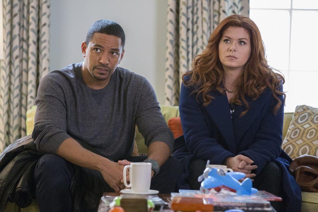 """Während Billy (Laz Alonso, l.) und Meredith an ihrer Beziehung schustern, geht Laura (Debra Messing, r.) in ihren Ermittlungen einer """"Männerrechtsgr... - Bildquelle: 2015 Warner Bros. Entertainment, Inc."""