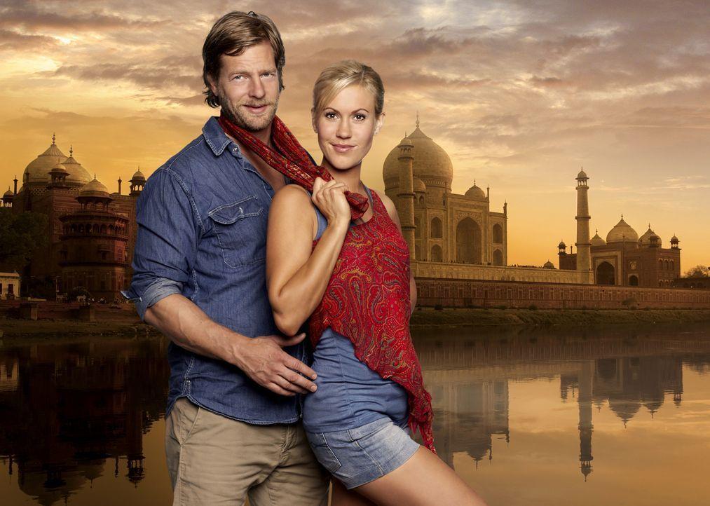 Indisch für Anfänger: Max (Henning Baum, l.) und Sarah (Wolke Hegenbarth, r.) ... - Bildquelle: Guido Engels SAT.1