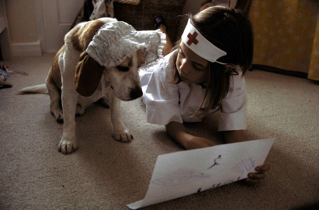 Als der kleine Beagle plötzlich auftaucht, steht für Susanne (Sina Richardt) gleich fest, dass ihr sehnlichster Wunsch in Erfüllung gegangen ist ...... - Bildquelle: Boris Guderjahn ProSieben