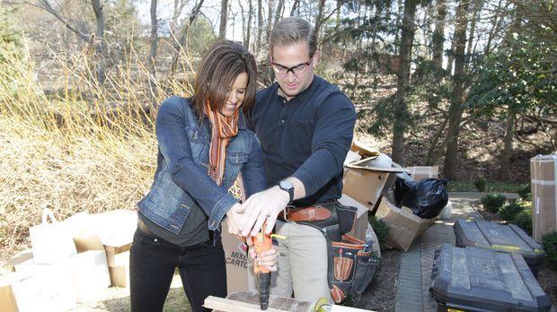 Packen gemeinsam an: NBCs Today  Moderatorin Jenna Wolfe (l.) und Bauunterneh...