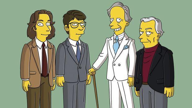Moe'N'A Lisa: (v.l.n.r.) Michael Chabon, Jonathan Franzen, Tom Wolfe und Gore...