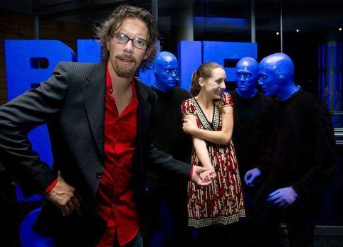 """Comedystreet XXL - Simon (l.) hat sich riesig auf den Besuch bei der """"Bl..."""