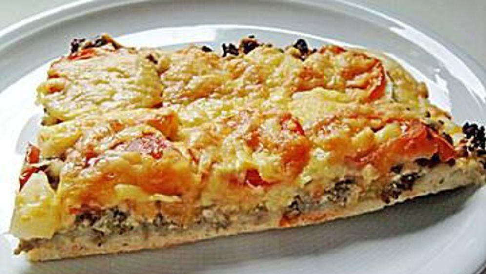 Hackfleisch-Apfel-Pizza