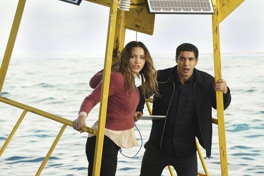 Als das Schiff von Paige (Katharine McPhee, l.) und Walter (Elyes Gabel, r.)...