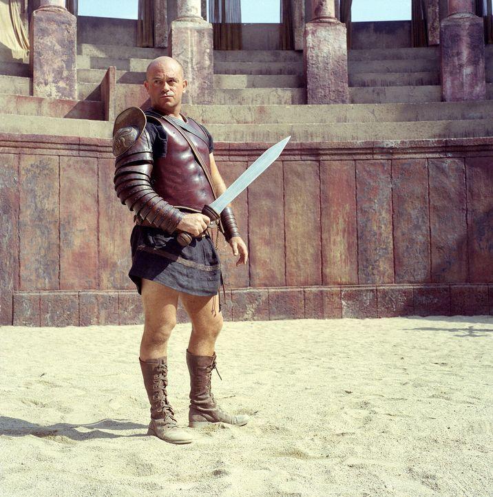Der Gladiatoren-Lehrer Cinna (Ross Kemp) der Gladiatorenschule des Cornelius Batiatus kann auf die talentiertesten Kämpfer des Römischen Reiches zur... - Bildquelle: USA Network Pictures