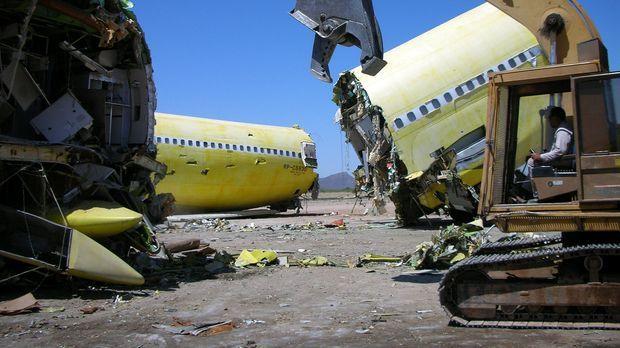 Friedhof der Flugzeuge: Die Lebensdauer eines Flugzeugs beträgt rund 30 Jahre...
