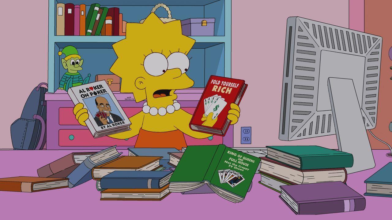 Während Grampa aus dem Altersheim verschwindet, versucht Lisa ihr Glück beim Online Poker und riskiert dabei ihre Ersparnisse fürs College ... - Bildquelle: und TM Twentieth Century Fox Film Corporation - Alle Rechte vorbehalten