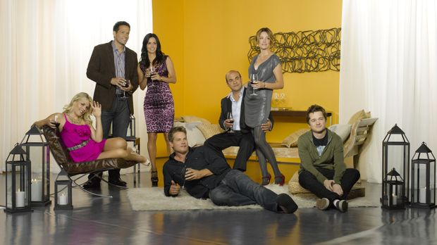 (2. Staffel) - Welcome to Cougar Town: Jules Cobb (Courteney Cox, 3.v.l.), El...