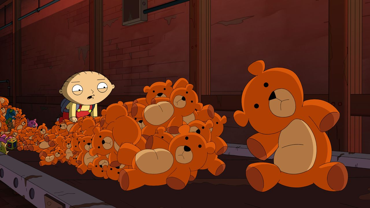 Lois schickt Stewies Teddy Rupert im Rahmen einer Rückrufaktion in die Fabrik zurück. Doch das war ein Fehler ... - Bildquelle: 2013 Twentieth Century Fox Film Corporation. All rights reserved.