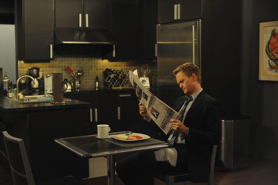 Behauptet, dass die Ehe von Lily und Marshall bald am Ende ist: Barney (Neil Patrick Harris) ... - Bildquelle: 20th Century Fox International Television