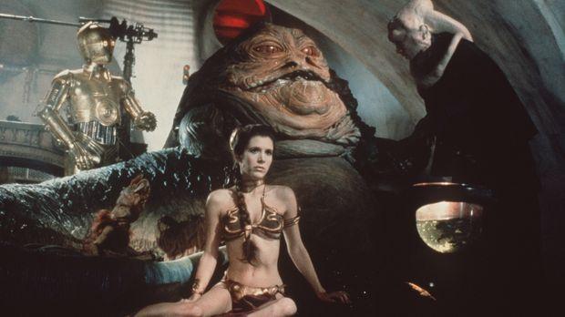 Prinzessin Leia (Carrie Fisher) gerät in die Gefangenschaft von Jabba the Hut...