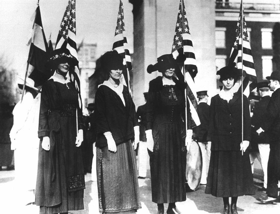 Amerikanische Frauenrechtlerinnen - Bildquelle: dpa