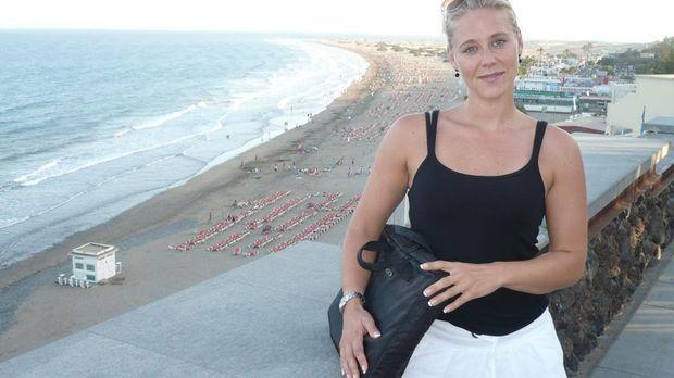 Hoteltesterin Nina Heinemann im Einsatz auf der kanarischen Insel Teneriffa....